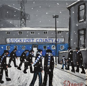 James Downie Original Oil Painting Stockport County Football Club